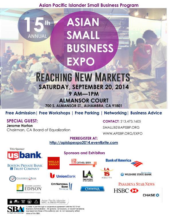 2014 Expo Flier Sponsors
